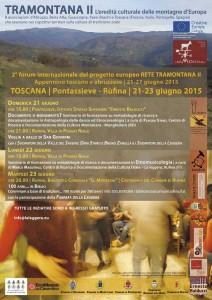 locandina 2° Forum Tramontana II Toscana