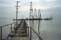 bibi heybat oil field, baku, azerbaijan